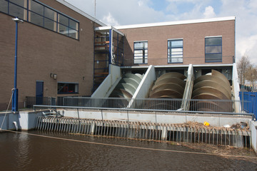 Pump house for watermanagement in the Netherlands