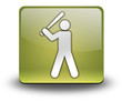 "Yellow 3D Effect Icon ""Baseball"""