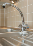 Modern Mixer Tap on Kitchen Sink
