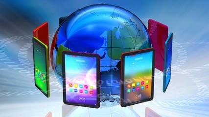 Global computer communication via tablet PC concept