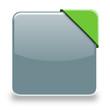 Button mit Banner an Ecke grau grün