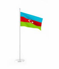 3D flag of Azerbaijan