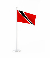 3D flag of Trinidad and Tobago