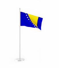 3D flag of Bosnia and Herzegovina