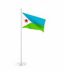 3D flag of Djibouti