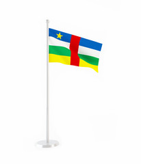 3D flag of Central African Republic