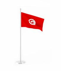 3D flag of Tunisia