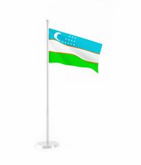 3D flag of Uzbekistan