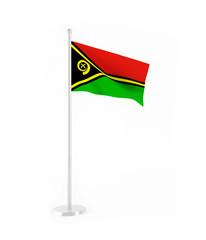 3D flag of Vanuatu