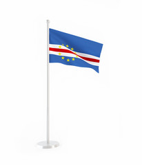 3D flag of Cape Verde