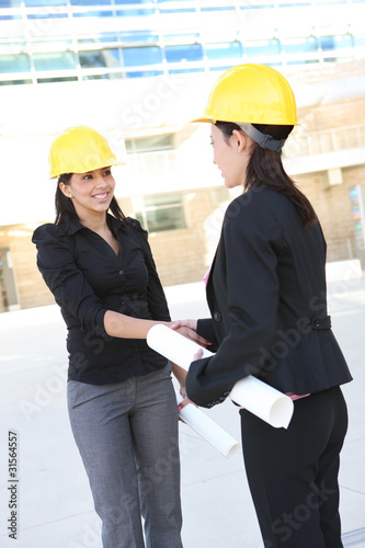 Business Construction Women Handshake