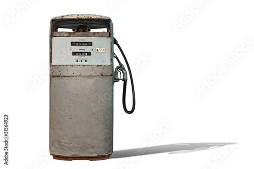 Isolated Vintage Gas Station Horizontal