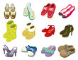 cartoon shoes icon