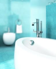 Badezimmer in blau II