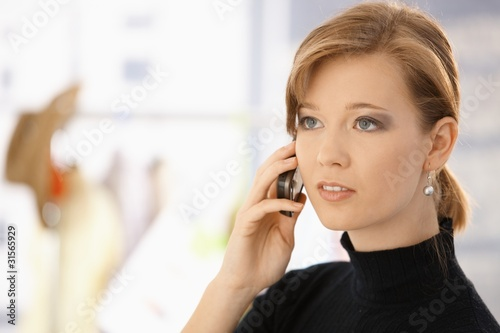 Young woman on mobile
