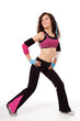 Zumba teacher in stretch pose