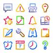 Organizer web icons. Color contour series.