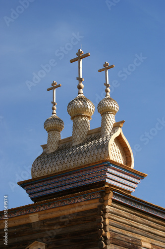 Moscow, Russia, Kolomenskoye. Wooden church of St. George