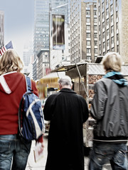 An image of street life at Manhattan, New York