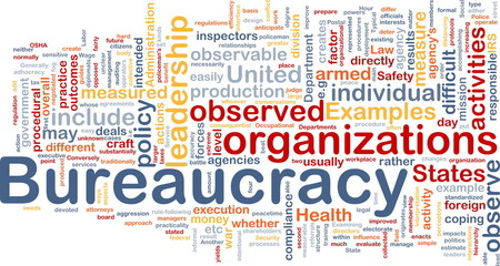Bureaucracy is bone background concept