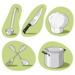 Vector set of kitchenware.