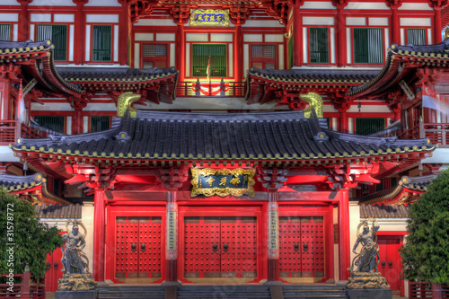 Buddha Tooth Relic Temple Front Doors Poster