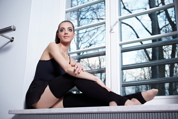 Attractive modern ballet dancer
