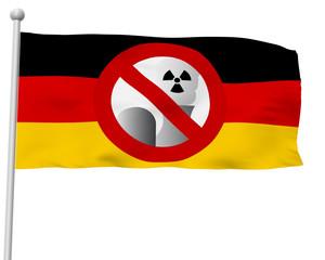 Fahne BRD AKW Verboten