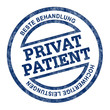 PRIVATPATIENT button