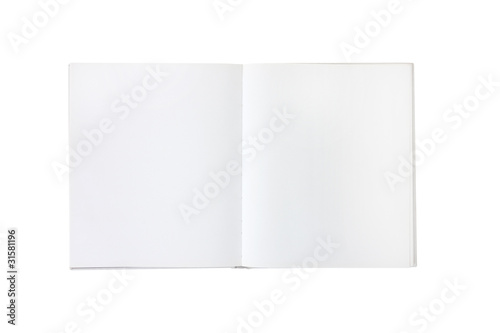 blank empty white book or brochure