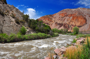 Fast flowing stream in Utah