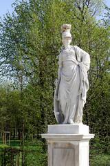 An old statue in the garden of Schönbrunn, Vienna