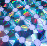 background of compact discs