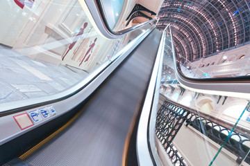 spacious escalator walkway