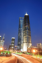 Jin Mao Tower and Shanghai word financial center