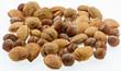 fruits secs d'automne : noix, noisettes et amandes