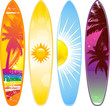 Tropical surf boards - 31589944