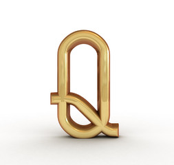 One letter of golden alphabet