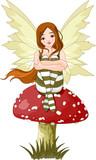 Fototapete Fairy - Hübsch - Frau
