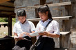 Studentinnen von Asien
