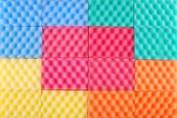 Colored sponges background