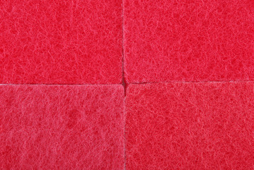 Red texture cellulose foam sponge