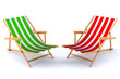 Modern beach chairs