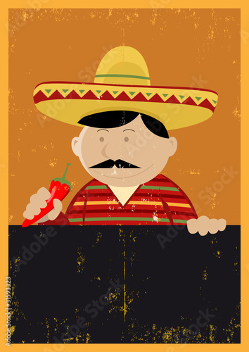 Grunge Mexican Chef Cook Menu
