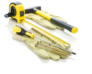 gloves with working tools