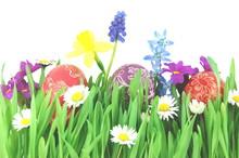 Wielkanocne pisanki Na wiosennej lace