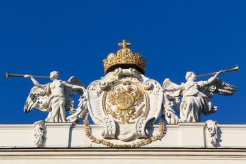 Angels glorifying Austrian insignia of power