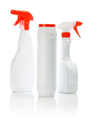 isolated white cleaners