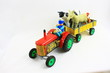 tracteur et animaux de la ferme