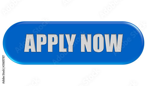 Button blau Seiten rund APPLY NOW